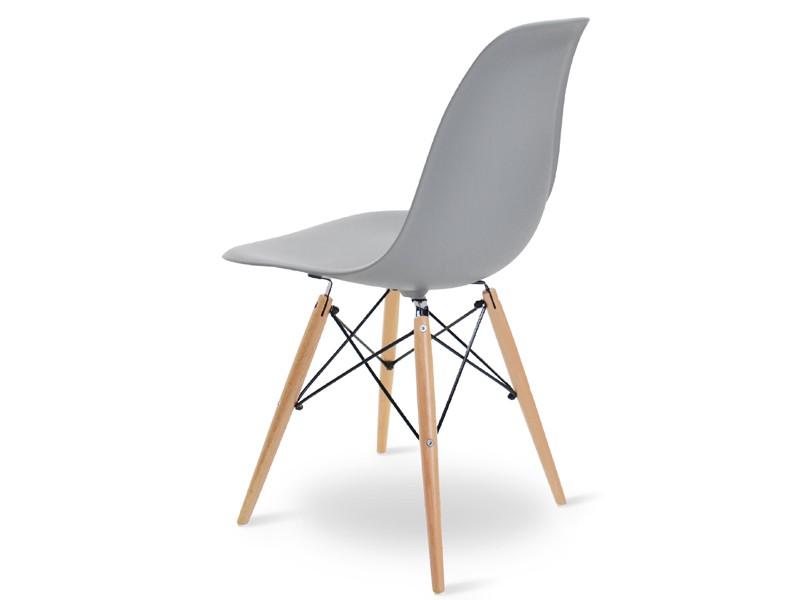 Image de la chaise design Silla Eames DSW - Gris claro