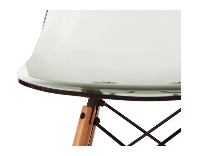 Image de la chaise design Silla Eames DSW - Gris transparente