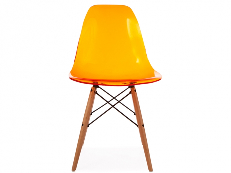 Silla dsw naranja transparente for Chaise dsw transparente