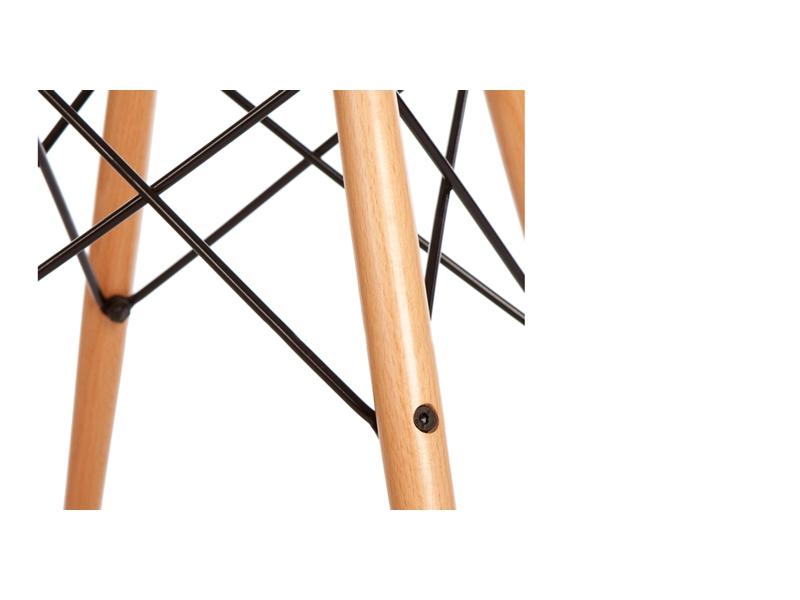 Image de la chaise design Silla Eames DSW - Naranja transparente