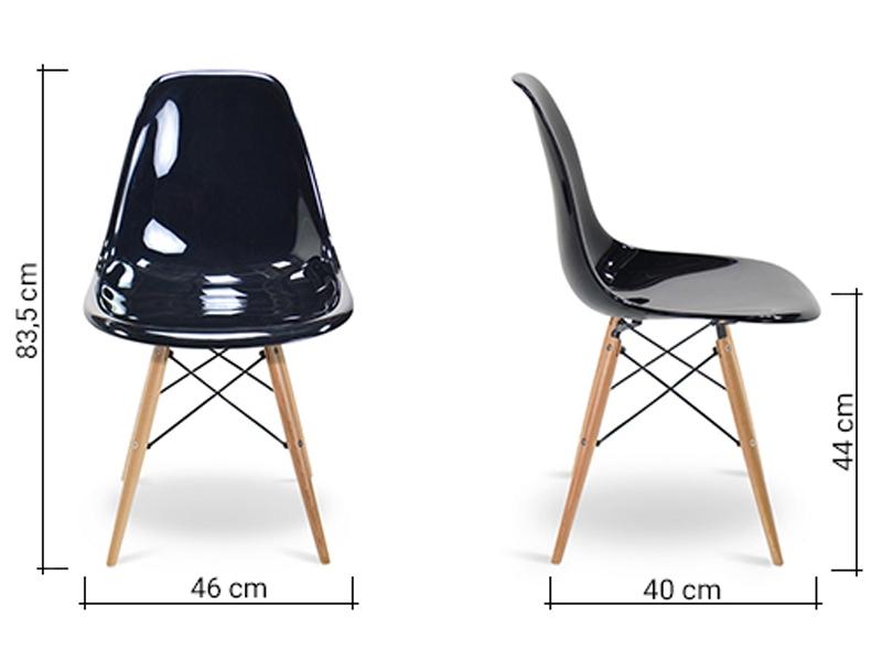 Image de la chaise design Silla Eames DSW - Negro brillante