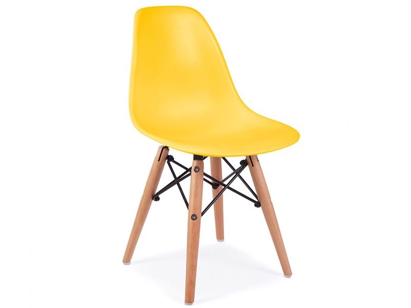 Image de la chaise design Silla  Eames DSW Niños - Amarillo