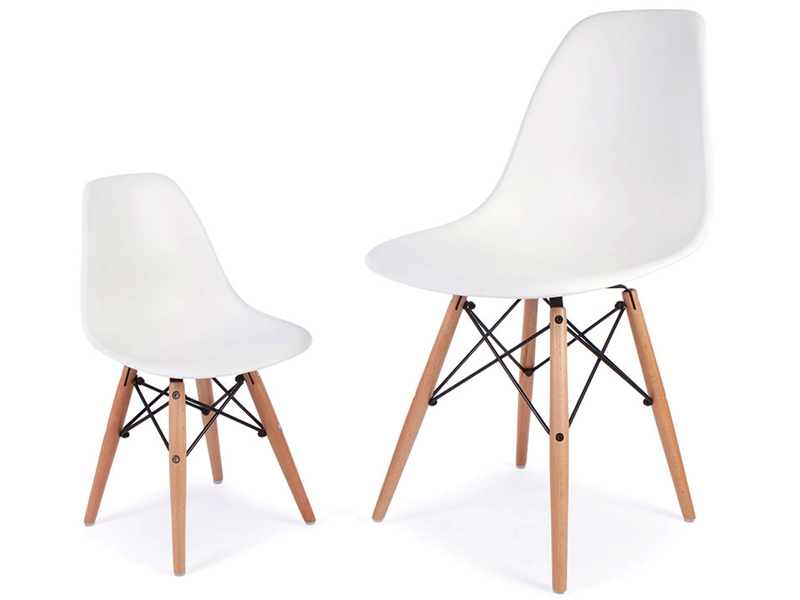 Image de la chaise design Silla Eames DSW Niños - Verde