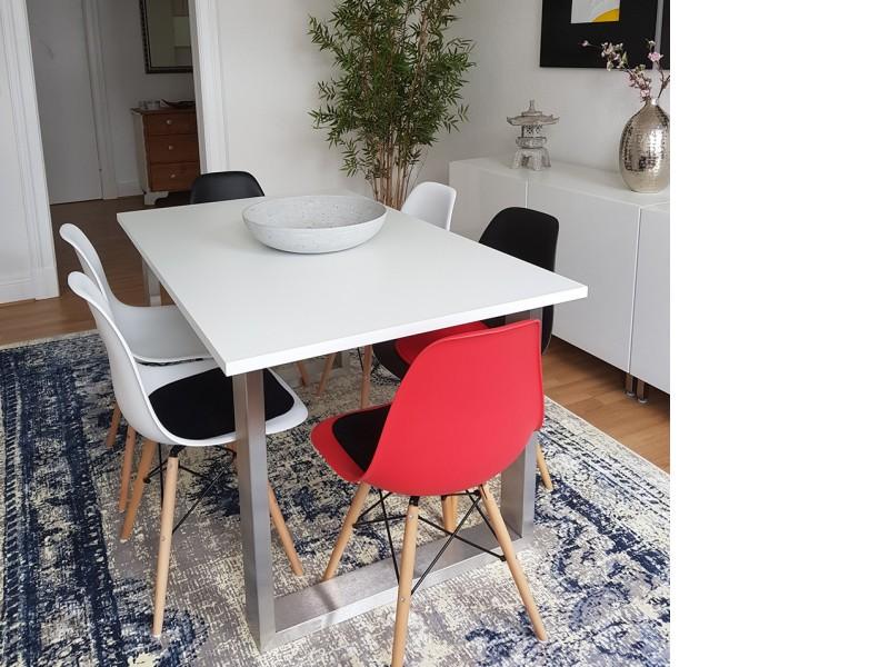 Image de la chaise design Silla Eames DSW - Rojo vivo