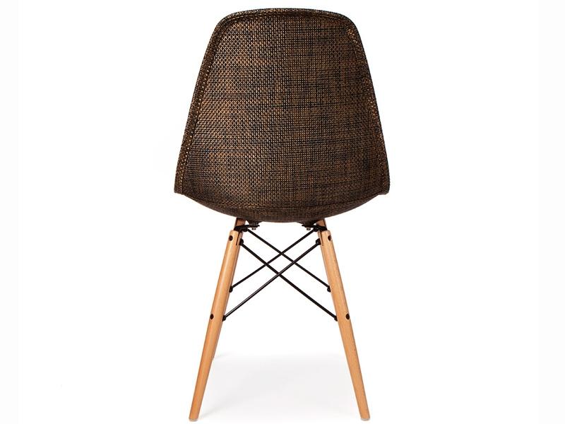 Image de la chaise design Silla Eames DSW Textura - Cacao