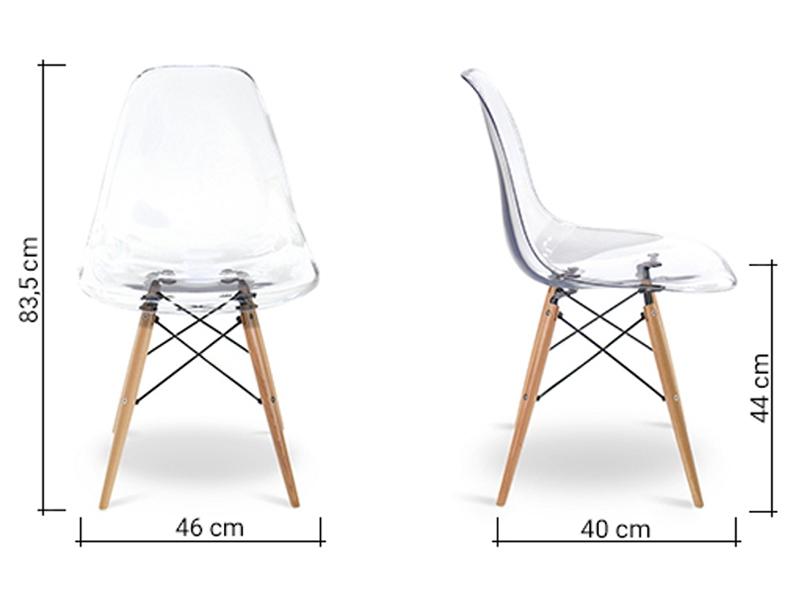 Image de la chaise design Silla Eames DSW - Transparente