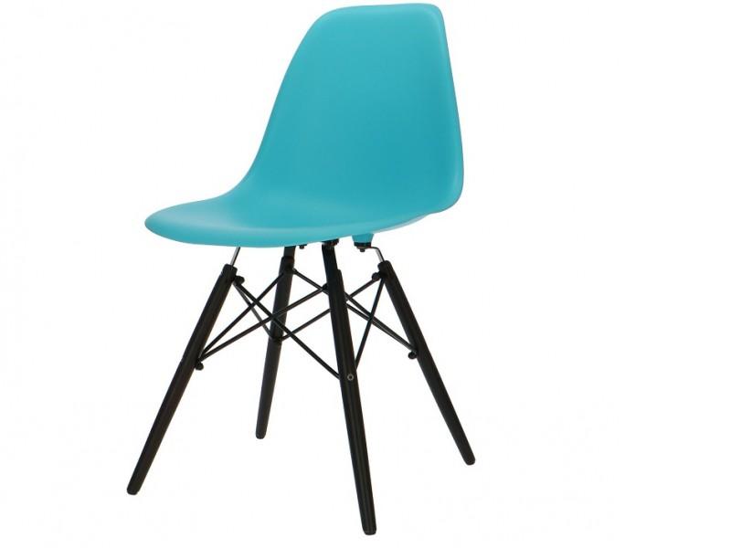 Image de la chaise design Silla Eames DSW - Turquesa