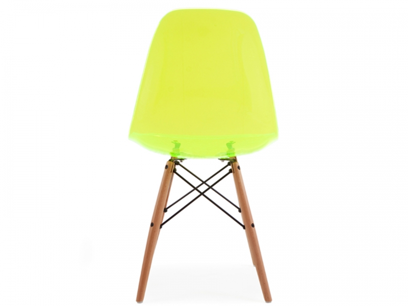 Image de la chaise design Silla Eames DSW - Verde transparente