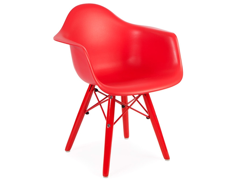 Silla nino eames daw color rojo for Sillas eames para ninos