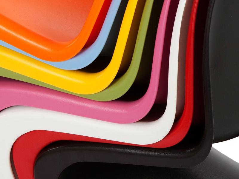 Image de la chaise design Silla Nino Panton - Rosa