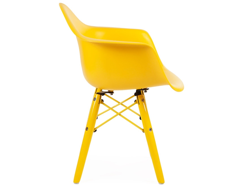 Silla ni os eames daw color amarillo for Sillas eames para ninos