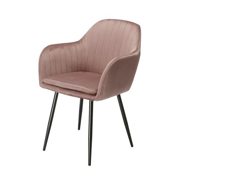Image de la chaise design Silla Orville Brando - Terciopelo Rosa