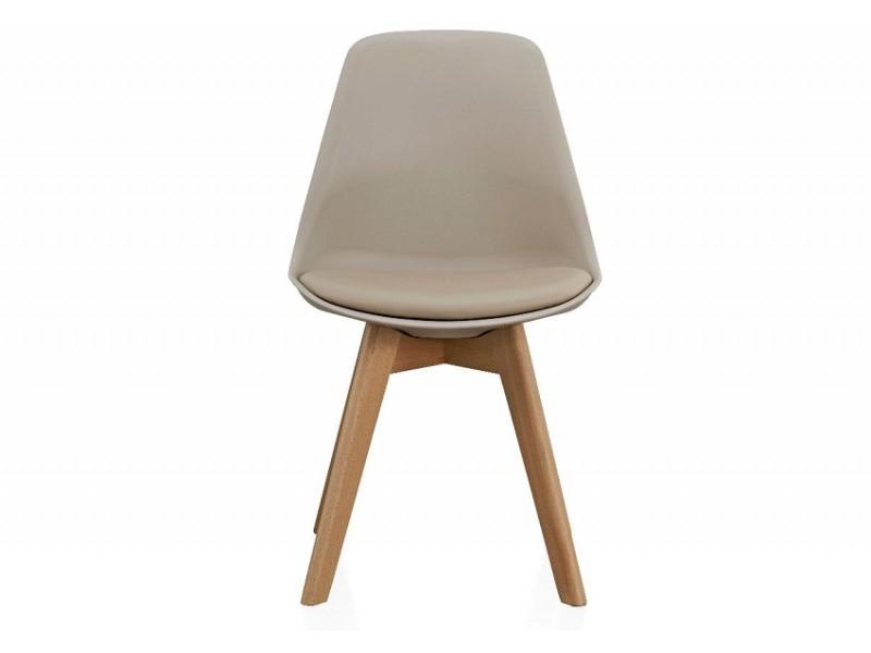 Image de la chaise design Silla Orville Milou - Gris beige