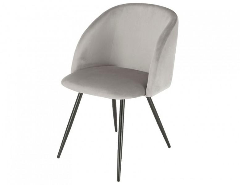 Image de la chaise design Silla Orville Vesper  - Terciopelo Gris