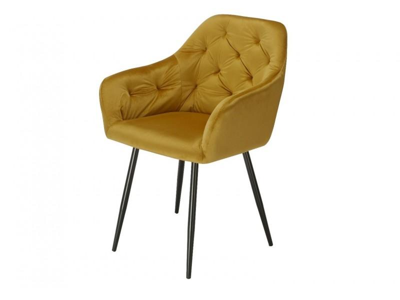 Image de la chaise design Silla Orville Vinny - Terciopelo Amarillo