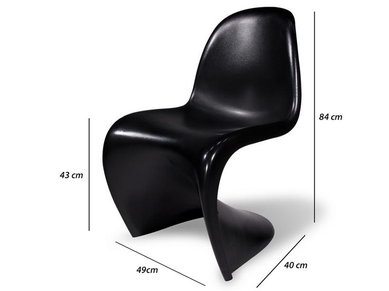 Image de la chaise design Silla Panton - Negro brillante