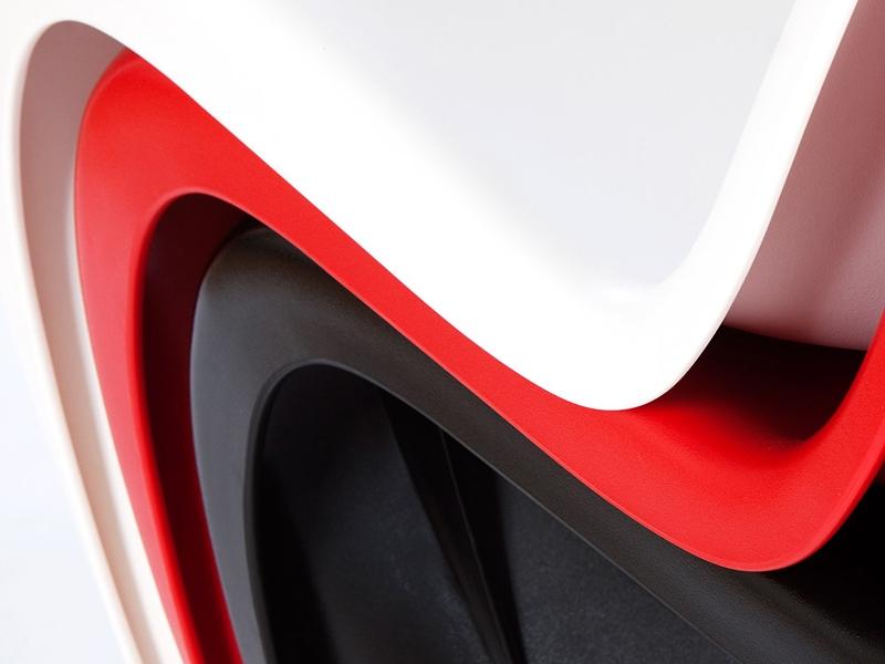 Image de la chaise design Silla Panton - Rojo
