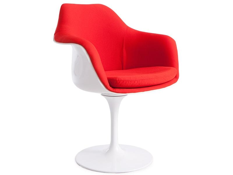 Image de la chaise design Silla Tulip Saarinen - Acolchada lana