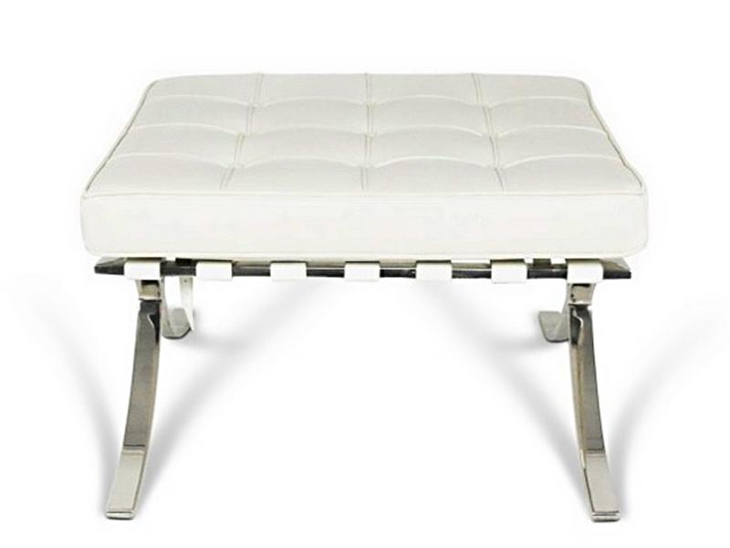 Image de la chaise design Silla y ottoman Barcelona - Crema Blanca