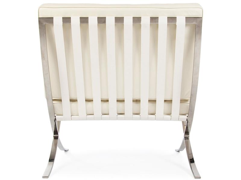 Image de la chaise design Silla y ottoman Barcelona - Crema
