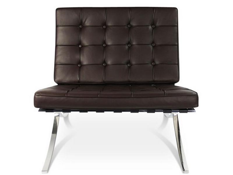 Image de la chaise design Silla y ottoman Barcelona - Marrón oscuro