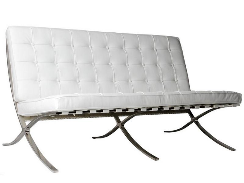 Image de la chaise design Sofá Barcelona 2 plazas - Crema Blanca