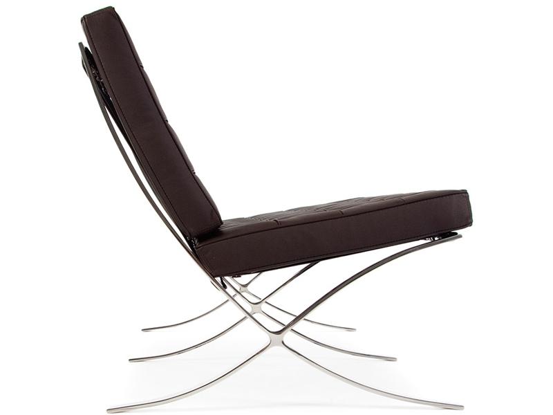 Image de la chaise design Sofá Barcelona 2 plazas - Marrón oscuro