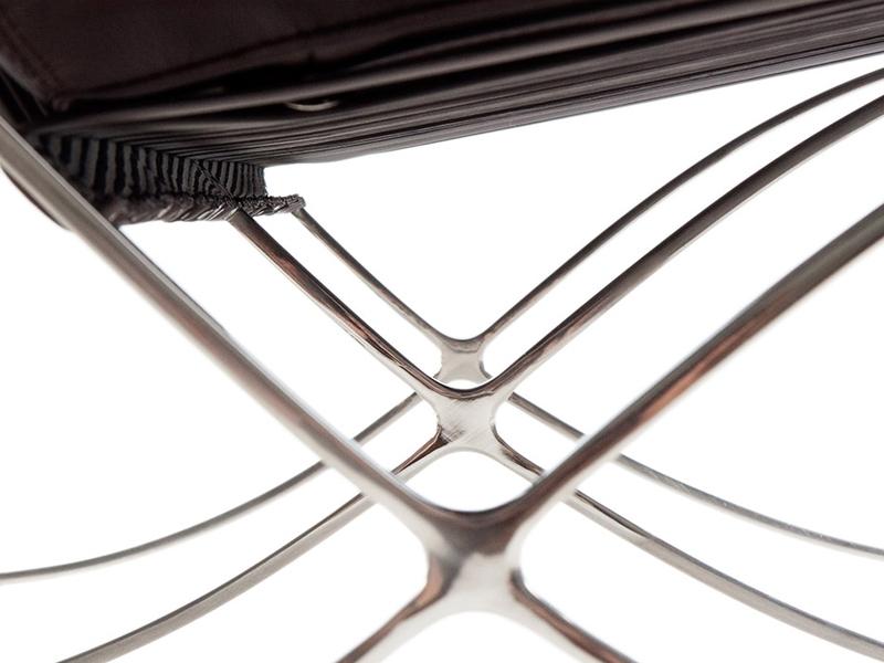 Image de la chaise design Sofá Barcelona 3 plazas - Marrón oscuro