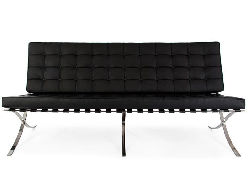 sof barcelona 3 plazas negro