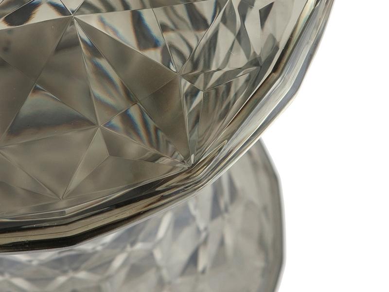 Image de la chaise design Taburete Ghost - Transparente Gris