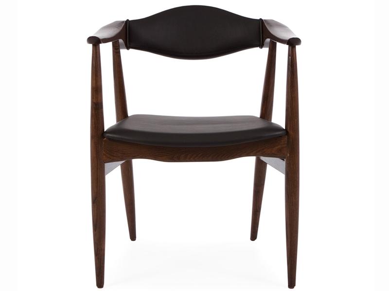 Image de la chaise design Wegner Silla Troy - Marron/Negro