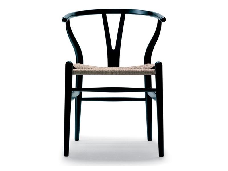 Image de la chaise design Wegner Silla Wishbone CH24 - Negro