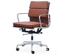 Image de la chaise design Eames Soft Pad EA217 - Cognac