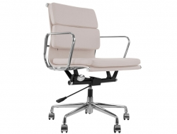 Image de la chaise design Eames Soft Pad EA217 - Gris claro