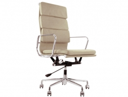 Image de la chaise design Eames Soft Pad EA219 - Beige