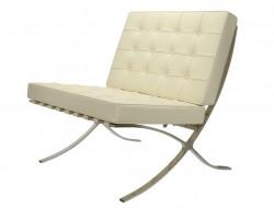 Image de la chaise design Silla Barcelona - Crema Blanca