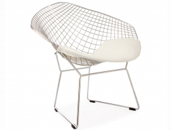 Image de la chaise design Silla Bertoia Wire Diamond - Bianco