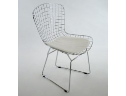 Image de la chaise design Silla Bertoia Wire Side - Blanco