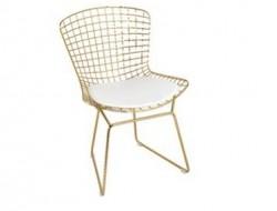 Image de la chaise design Silla Bertoia Wire Side - Dorado