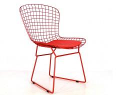 Image de la chaise design Silla Bertoia Wire Side - Roja