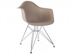 Image de la chaise design Silla DAR - Beige gris