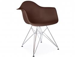 Image de la chaise design Silla DAR - Café