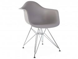 Image de la chaise design Silla DAR - Gris ratón