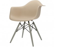 Image de la chaise design Silla DAW - Beige gris