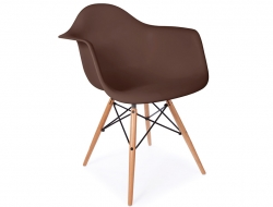 Image de la chaise design Silla DAW - Café