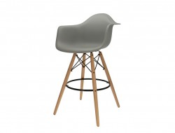 Image de la chaise design Silla de barra DAB - Gris claro