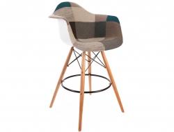 Image de la chaise design Silla de barra DAB - Patchwork azul