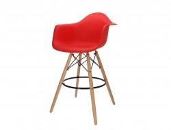 Image de la chaise design Silla de barra DAB - Rojo vivo