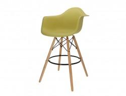 Image de la chaise design Silla de barra DAB - Verde oliva