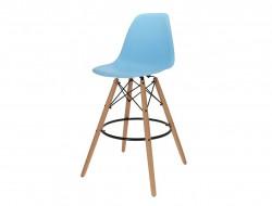 Image de la chaise design Silla de barra DSB - Azul claro